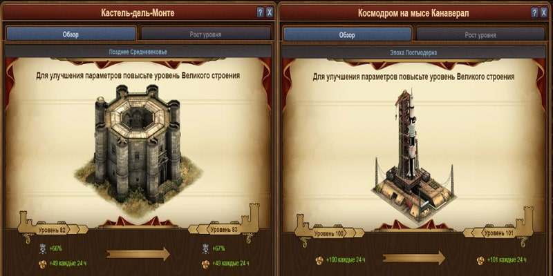 Forge of Empires Великие Строения